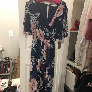 Francescas maxi romper slit sleeve dress/jumpsuit